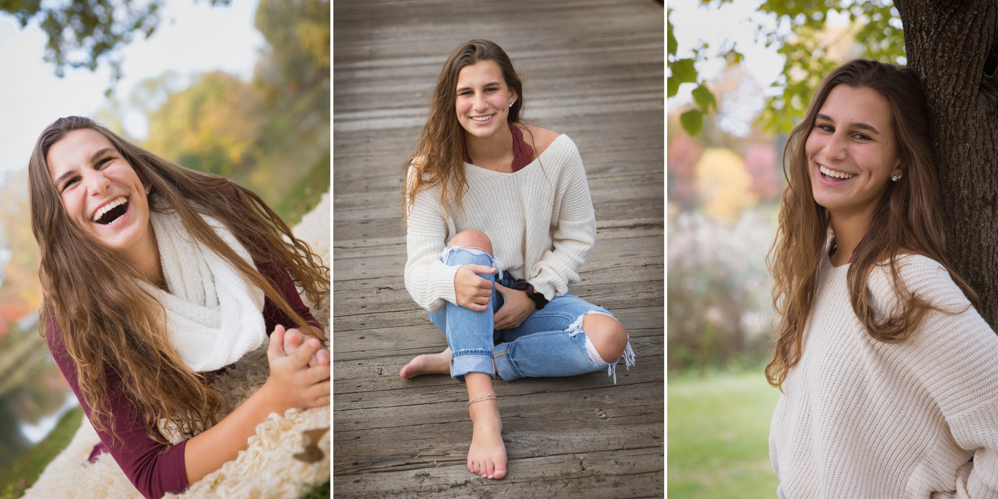 Casual senior pictures in the fall